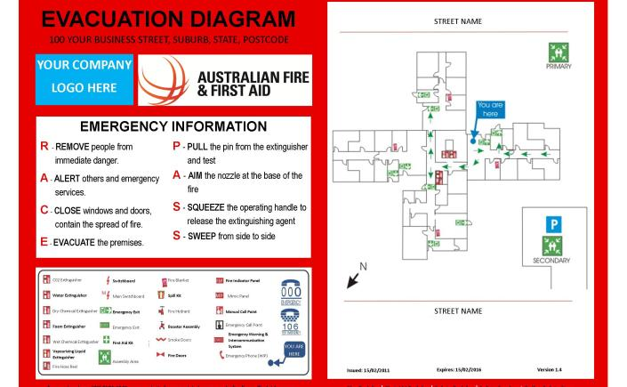 Whs laws for Fire evacuation plan template nsw